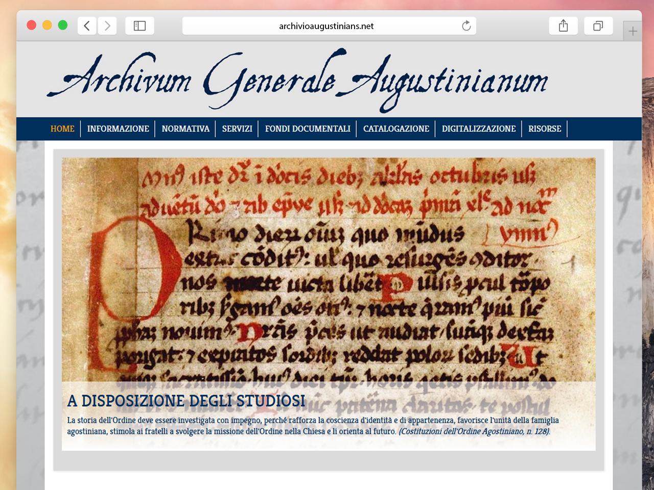 Archivum Generale Augustinianum – Marco Prosperi